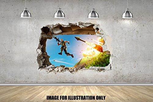 Gamer Gaming-Spieler Wall Smash späht Kinder-Lieblings-Charaktere 70cm Wandtattoo, Vinyl, Motiv: Wandkunst, Customise4UTM