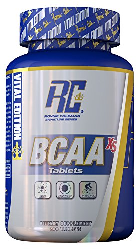 Ronnie Coleman Signature Series BCAA-XS, Clinically Validated BCAA for Strength & Recovery, 200 Count