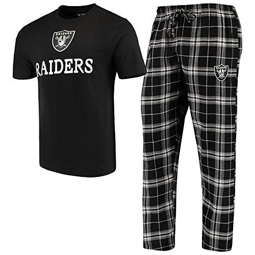Concepts Sport Oakland Raiders Duo Men's Sleep Set, Medium