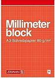 Brunnen 104737001 - Blocco di carta millimetrata, A3, 297 x 240 mm, 20 fogli, colore rosso/marrone