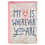 Best Valentine's Day Cards - Map with String Embellishment Valentine's Day Card Review