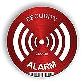 imaggge.com - Panel rígido de alarma de seguridad, redondo, 15 cm, ultra resistente, aluminio (no PVC), señal de un sistema de vigilancia o cámara, para paredes, postes y vallas