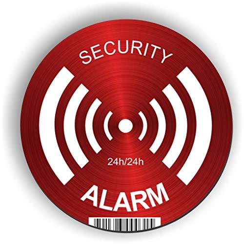 imaggge. com Panel Alarma Alarm–Security–Redondo 15cm–Ultra Resistente–Aluminio (sin PVC)–signaler un Sistema de monitoreo/cámara–para Pared, Poste, Valla.