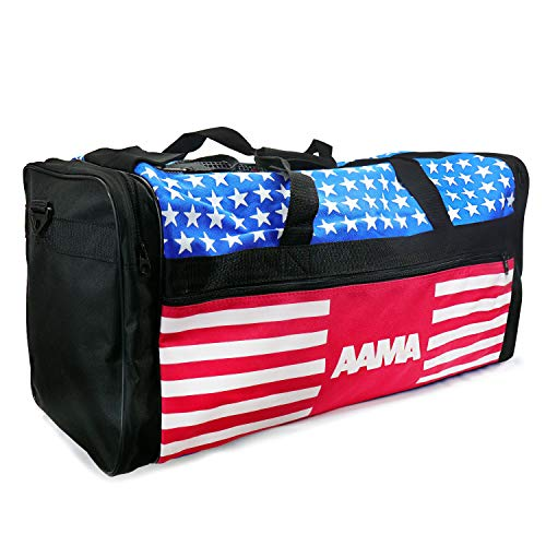 AAMA US Flag Martial Arts Taekwondo Sparring Gear Equipment Bag - Stars and Stripes