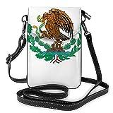 Bolso ligero del teléfono celular de la PU, bandera de México, bolso pequeño Crossbody de la cartera del bolso del hombro del bolso de Pounch para las mujeres, color Negro, talla Talla única