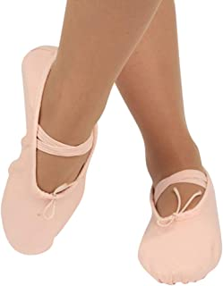 CHILDS ADULT CANVAS BALLET DANCE SHOES SLIPPERS POINTE DANCE GYMNASTICS BLING