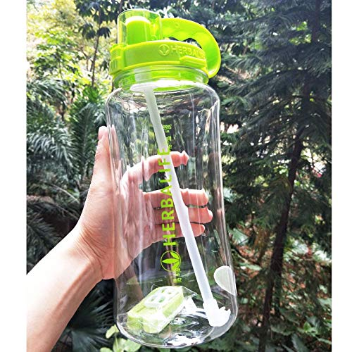 ZYLL Big Capacity Transparent 1000Ml Fashion Portable Space Herbalife Nutrition Custom Shaker Straps Straw Water Bottle