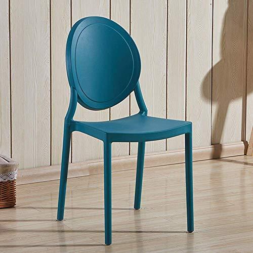 N&O Renovation House Sillas de Comedor Silla de plástico Silla de Comedor Silla Impermeable y Liviana Apta para café Restaurante Balcón Juego de 2 sillas de Restaurante (Color: Amarillo Tamaño: