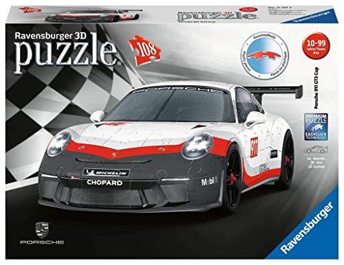 Ravensburger- Porsche 911 GT3 Cup Puzzle 3D, Multicolore, 11147 3