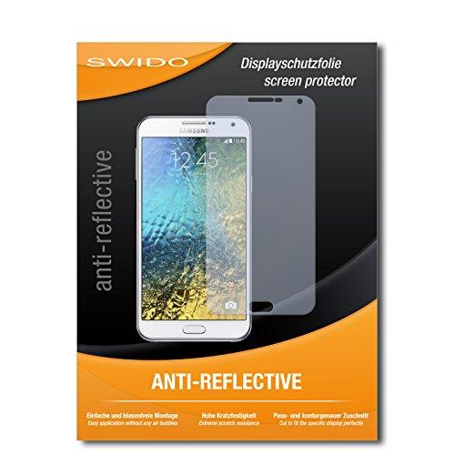 SWIDO Bildschirmschutz für Samsung Galaxy E7 [4 Stück] Anti-Reflex MATT Entspiegelnd, Hoher Festigkeitgrad, Schutz vor Kratzer/Glasfolie, Schutzfolie, Bildschirmschutzfolie, Panzerglas Folie