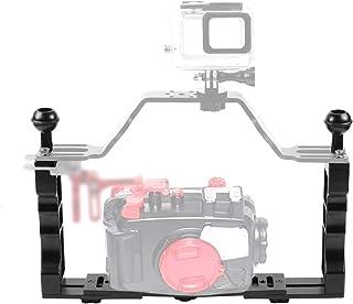 XIAODUAN-Onderwater fotografie gereedschap- - Verstelbare Diving Dual Hand-held CNC Aluminium lamparm houder for Diving onderwaterfotografie System, upgradeversie