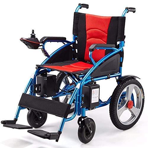 GAXQFEI Silla de ruedas eléctrica, ligeros plegables silla de ruedas, silla de ruedas inteligente eléctrico automático, Anchura del asiento 45 cm, peso 120 Kg, ancianos inválidos,