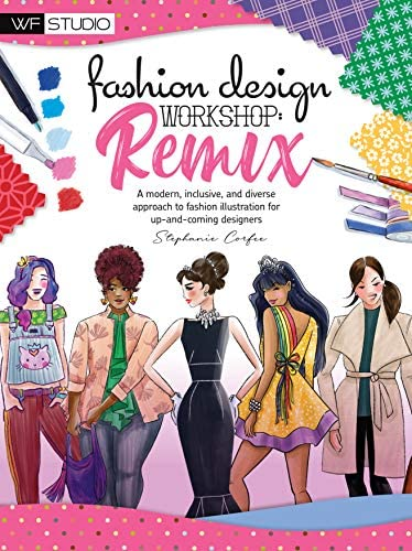 Fashion Design Workshop Remix A modern inclusive and diverse approach to fashion illustration product image
