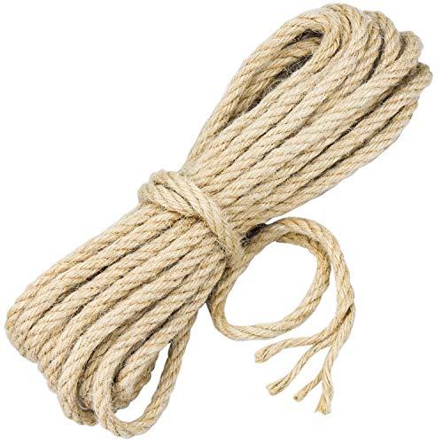 Demason 10m*8mm Cuerda de Yute, Cuerda de Cáñamo 100% Natural, Cuerda de...