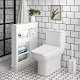 Swiss Madison Well Made Forever SM-1T256 Carré One Piece Toilet, Glossy White