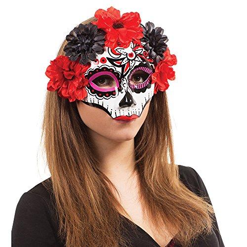 Bristol Novelty EM763 Tag der Toten Maske, Bunt, womens, Mehrfarbig, Einheitsgröße