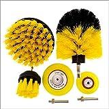 Brocha Kit de limpieza de cepillo Conjunto de accesorios Depurador de potencia Cepillo de taladro de uso múltiple para superficies de baño, Piso, bañera, Loseta, Esquinas, Cocina, Automotor, Parrilla