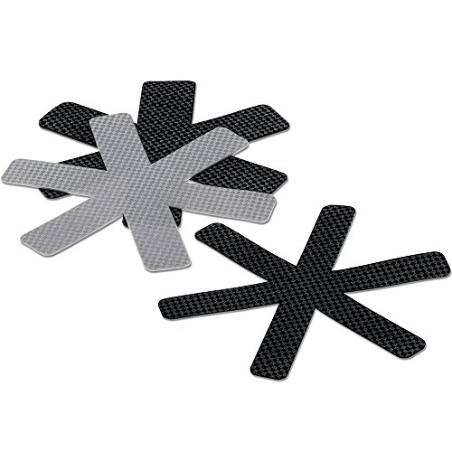 kela Set poêle Protection Amparo 3 pièces de Feutre Noir/Gris, Felt, 39 x 39 x 0,5 cm