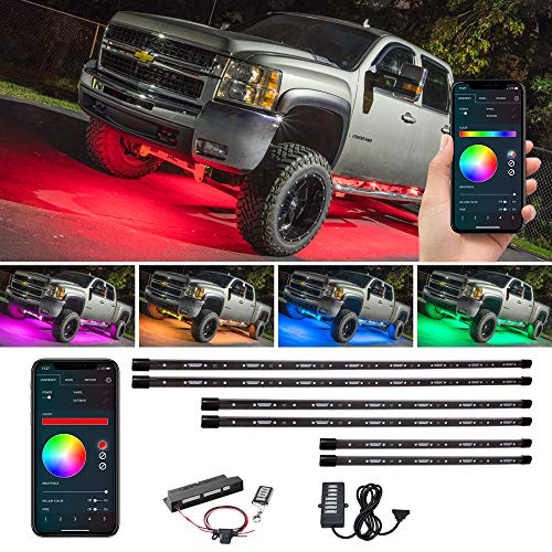 LEDGlow 6pc Bluetooth Million Color...