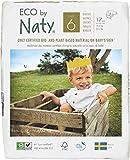 Eco by Naty, Talla 6, 102 pañales, 16+kg, suministro para UN MES, Pañal ecológico premium hecho a base de fibras vegetales. 0% plásticos derivados del petróleo en contacto con la piel.