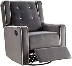 Naomi Home Odelia Swivel Rocker Recliner Gray/Microfiber