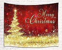 LB クリスマス タペストリー クリスマスツリー 飾り おしゃれ壁掛け 装飾布 欧米風 インテリア 多機能 リビング パーティー用 イベント用 お店 個性ギフト 人気 お祝い 150x100cm …