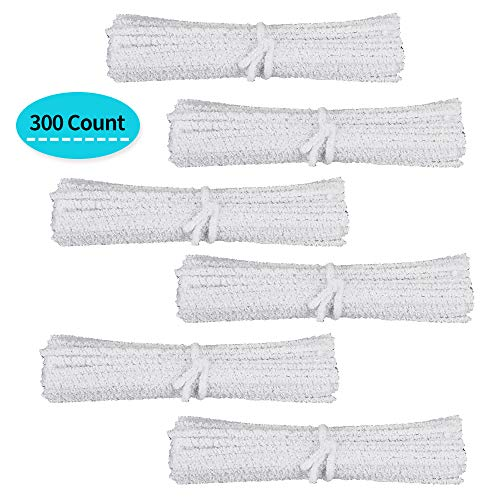 DIMJ 300 Stück Pfeifenreiniger für alle Tabakpfeife, 100% Baumwollabsorber - 6 Packungen