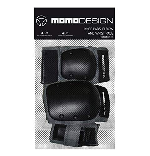 Momo Hand knie- en elleboogbeschermer, zwart, S/M