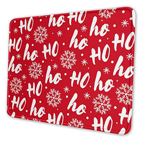 Qdhund Mouse Pad Long Mouse Pad Hohoho Santa Claus 10 X 12 Inch With Stitched Edge Premium-Textured Printing Washable Mouse Mat Non-Slip Rubber Base Mouse Pad Laptop