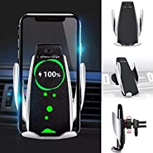 Wireless Charging Car Phone Holder - AC Vent & Dash Mount with Automatic Clamping
