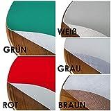 Tischpolster RUND OVAL Größe & Farbe wählbar Weiss 110 cm Rund Tischschoner Tischschutz Molton Auflage Schoner Unterlage - 4