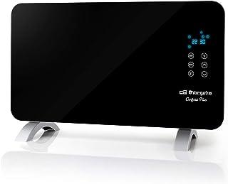 Orbegozo REH 1050 – Panel radiante con frontal de cristal templado en color negro, apto para baño, mando a distancia y temporizador. 1000 W de potencia.