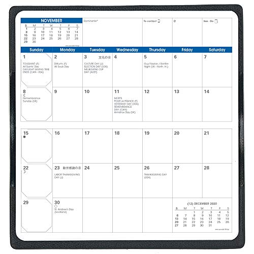 クオバディス2020年手帳4月始まりビソプラン4/クラブブラックqv66502bk