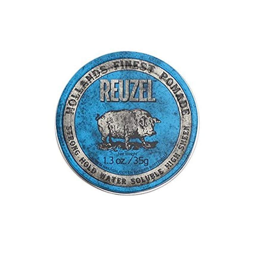 ルーゾー REUZEL STRONG HOLD HIGH SHEEN ストロングホールド ブルー 35g