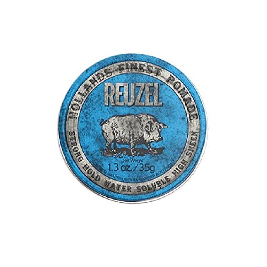 シーフード通り洋服ルーゾー REUZEL STRONG HOLD HIGH SHEEN ストロングホールド ブルー 35g