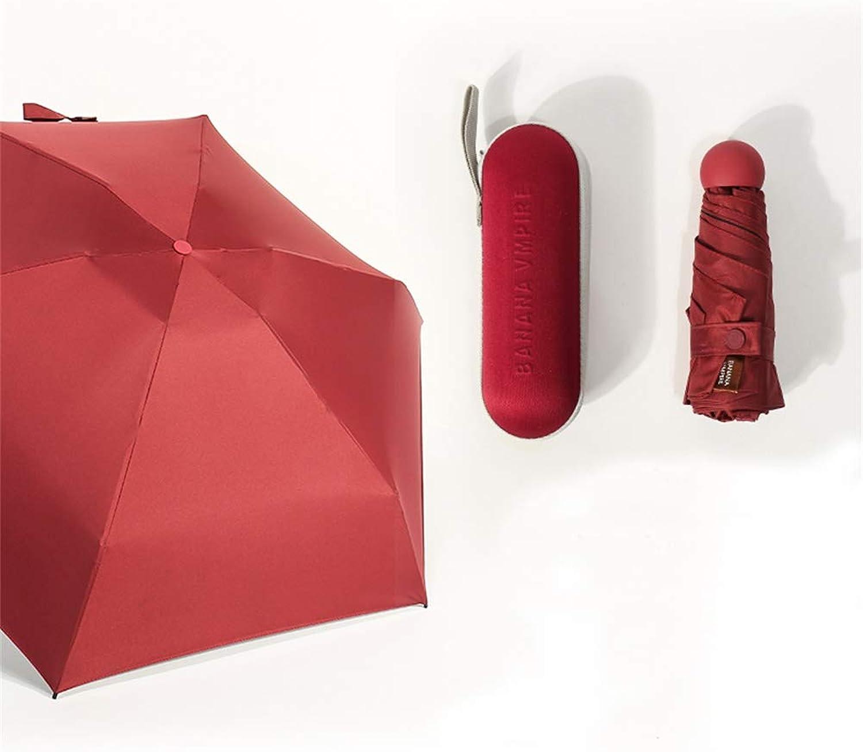 SANQING SANQING SANQING Regenlicht-Nano-Faltkapsel Umbrella schwarz Plastic Sunscreen UV Outdoor Umbrella,rot B07L9KJJ2N 3f706d