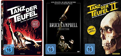 5er BRUCE CAMPBELL Collection - Tanz der Teufel 1 2 & 3 / Armee der Finsternis + Alien Apocalypse + Man With Screaming Brain 5