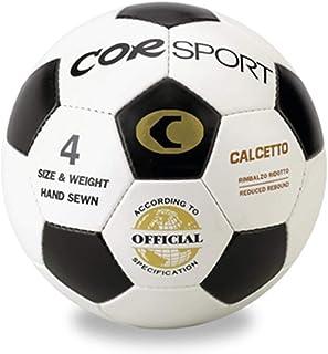 Corsport1 - Balón de fútbol corsport, talla 4, rebote reducido, piel sintética cosida, fútbol, balón oficial