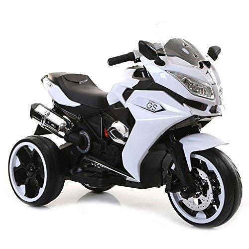 Moto Motocicletta Elettrica per Bambini 12V Star Kids Illuminato Bianca