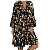 Tallas Grandes, Vestidos Estampado de Leopardo Mujer Verano 2020 Casual, Dragon868 Vestidos Cortosde...