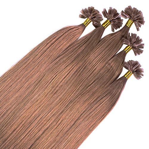 Just Beautiful Hair 100 x 1g extensions cheveux keratine à chaud - 60cm, couleur #10 brun cendres, lisse