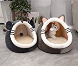 Cute Pet Cave Bed, Ultra Soft Fleece Cat Igloo Bed Cuddly Kitty Puppy Hideout Sleeping Bag Kitten Removable & Washable Cosy Tent Small Dog Cuddle Burrow Nest Bed Warmer Cat House Cozy Pet Cushion Bed