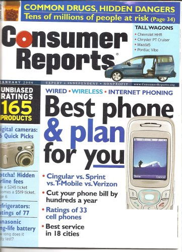 Consumer Reports January 2006 'Best Phone and Plan for You'