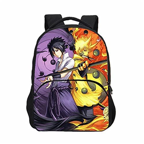 Mochila Anime Naruto  Grande Capacidad 3D Uchiha Sasuke Itachi Akatsuki Cosplay Escolar