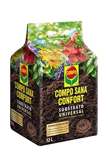 Compo Sana Confort Universal Calidad para macetas con 12 semanas de abono para Plantas de Interior, terraza y jardín,...