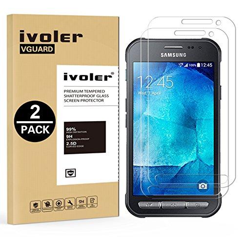iVoler [2 Pack] Vetro Temperato Compatibile con Samsung Galaxy Xcover 3, Pellicola Protettiva Protezione per Schermo per Samsung Galaxy Xcover 3