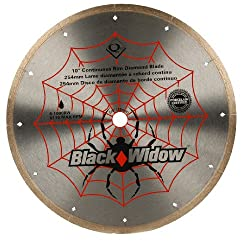 commercial QEP 6-1008BW Black Widow 10inch Wet Tile Saw Microsegments such as diamond blades, porcelain and marble wet tile saw blade