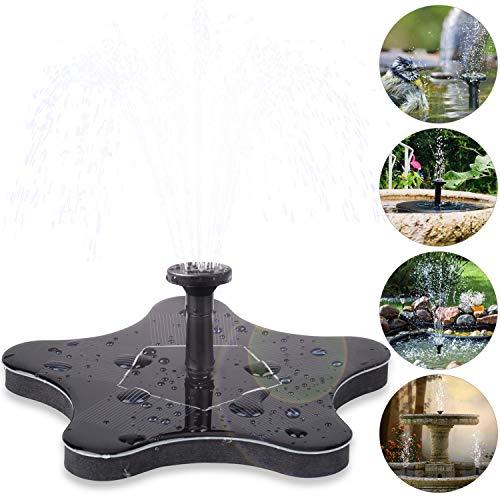 innislink Solar Springbrunnen, Solar Teichpumpe Solarpumpe Springbrunnen Schwimmender mit 1.4W Monokristalline Wasserpumpe Fontäne Pumpe für Gartenteiche, Fisch-Behälter, Vogel-Bad und Kleiner Teich