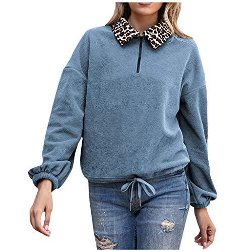 Eaylis Damen Sweatshirt Pullover Langarm Farbvarianten Langarmshirt Pulli ohne Kapuze Baumwolle Baumwollmischung Classic Basic Revers Sweatshirt