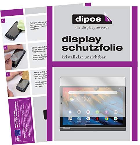 dipos I 2X Schutzfolie klar kompatibel mit Lenovo Yoga Smart Tab 10.1 YT-X705F Folie Bildschirmschutzfolie